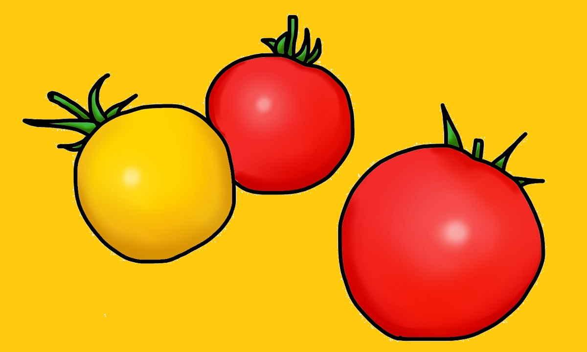 さくらんぼのようなミニトマト